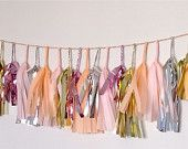 From Every Lane Etsy shop, lovely! Peach Pink Pretties  27 Sparkle & Shine MINI Tissue Tassel Garland