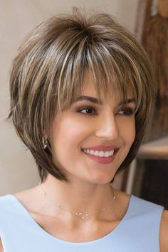 Light Ash Blonde Short Hairstyles, Ash blonde is one of the latest and trendiest hair colors, and it's easy to see why: the color is gorgeous, and there's a variety of nice shades t. chubby woman over 50 inverted bob with fringe images unbelievable ha Latest Short Hairstyles, Short Layered Haircuts, Short Hairstyles For Thick Hair, Layered Bob Hairstyles, Short Hair With Layers, Short Hair Cuts For Women, Haircut Short, Hairstyles 2018, Short Hair For Chubby Faces