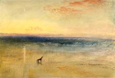 Joseph Mallord William Turner (British, 1775-1851), Dawn after the Wreck, c. 1841. Watercolour, gouache and rubbing out on paper, 25.1 x 36.8 cm.