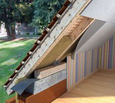 Roof Detail, Attic Conversion, Home Fix, Energy Efficient Homes, Attic Rooms, Home Technology, Modern Barn, Architecture Details, Tiny House