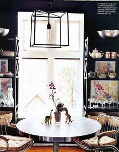 Black Kitchen via Domino Magazine by decorology, via Flickr
