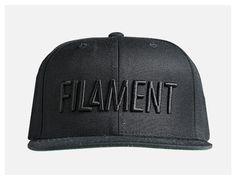 Tonal Black Snapback Cap by FILAMENT