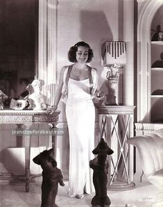 Joan Crawford and her beloved doxies.