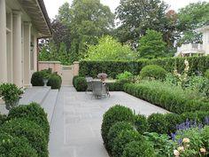 flagstone; hedge