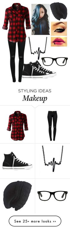 """Untitled #91"" by devils-and-angels on Polyvore featuring J Brand, LE3NO, Laundromat and Converse"