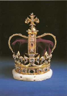 St Edward's Crown was one of the English Crown Jewels and remains one of the senior British Crown Jewels, being the official coronation crown used in the coronation of first English, then British, and finally Commonwealth realms monarchs.