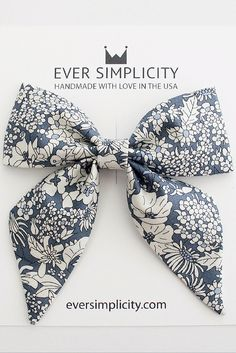 Beautiful Liberty of London Flower Sailor Bow. Handmade with love and care in sunny California for little girls.💖 +See more styles [eversimplicity.com/collections/hair]