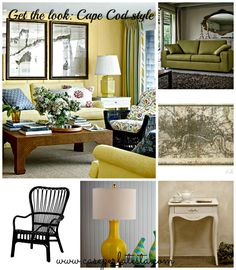 How to obtain a Cape Cod style in your living room on a budget!