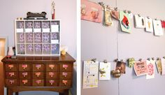 Everything has a place: I love displaying my work as well as organizing it in its own place