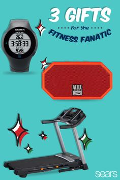 Bring the heat to your fitness lover this holiday season with these great workout gifts from Sears. Find everything you need - from wearable technology gadgets such as the Garmin Heart Monitor watch to an Altec Lansing portable speaker for the at-home exercise session. These gifts are sure to motivate and get them going. Check out sears.com today!