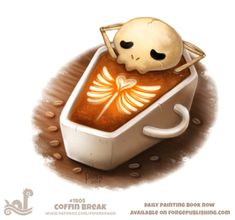 Daily Paint 1805# Coffin Break Daily Paintings Book now available: http://ForgePublishing.com/shop For full res WIPs, art, videos and more: https://www.patreon.com/piperdraws Twitter • Facebook • Instagram • DeviantART