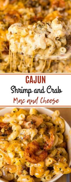 This Cajun Shrimp and Crab Mac and Cheese is super creamy, cheesy and decadent. This delicious spin to the classic dish will surely be your new favourite! food recipes Cajun Shrimp and Crab Mac and Cheese Seafood Dishes, Pasta Dishes, Seafood Recipes, Pasta Recipes, Cajun Shrimp Recipes, Easy Cajun Recipes, Shrimp Dinner Recipes, Cajun Shrimp Pasta, Seafood Soup