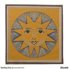 Smiling Sun Napkin #Sun #SunShine #Star #SolarSystem #Home #Decor #Napkin