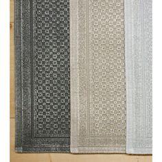 Vintage Badvorleger. Zweifarbig eingefärbter Vorleger aus Baumwolle im Vintage Look.