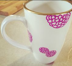 A personal favorite from my Etsy shop https://www.etsy.com/listing/223406475/flower-latte-mug