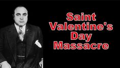 85 Years since the St Valentines Day Massacre was reported. The massacre was thought to be the Outfit's effort to strike back at Bugs Moran's North Side gang. Valentines Day Massacre, Hate Valentines Day, Al Capone, Saint Valentine, The St, Documentaries, Saints