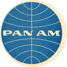 "Pan Am ""globe"" logo  (1957 - 1991) by  Edward Barnes and Joseph Montgomery - vintage travel sticker."