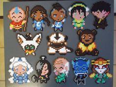 Avatar The Last Airbender set made of perler beads by ~capricornc5 on deviantART