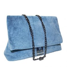 Colección Jackie terciopelo azul Madrid, Shoulder Bag, Bags, Fashion, Vestidos, Blue Velvet, Handmade Handbags, Fabrics, Blue Nails