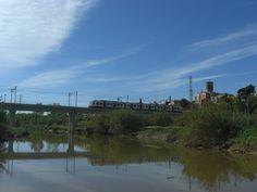 Sant Boi, y rio Llobregat