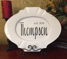 PERSONALIZED FAMILY PLATE by BurlapPillowsEtc on Etsy