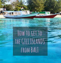 How to decide the best way to get to the GIli Islands from Bali - The fast boat or the local slow ferry are two options - Here is a breakdown of each.
