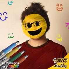 Cámbiale la cara a tu día y dibújale una colorida sonrisa con tus BIC Marking #LaDiferenciaEsElColor