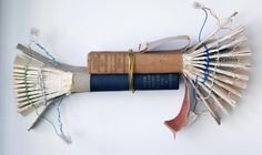 modified book sculpture produced in collaboration with Susannah Pickering
