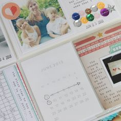 PL page by Stephanie Bryan- love the very simple 3x4 date card!