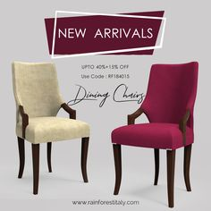 Bring home Rainforest Italy designer dining chair for your dining room now & get off. Luxury Dining Chair, Wooden Dining Chairs, Dining Chair Set, Dining Furniture, Wooden Furniture, Cool Furniture, Furniture Design, Dining Room, At Home Furniture Store
