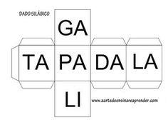 A Arte de Ensinar e Aprender: Dado Silábico - Jogo pedagógico