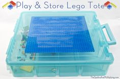 Play and store lego tote