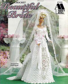Beautiful Bride  Fashion Doll  Crochet Pattern  Annies Attic 871319. $9.00, via Etsy.