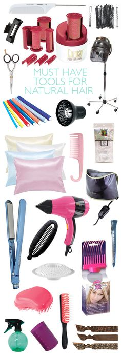 Must Have Tools For Natural Hair... all tools are not necessary... different hair different tools