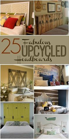 Take a look at these ingenious upcycled headboards you can make yourself! Furniture Projects, Home Projects, Diy Furniture, Furniture Design, Home Design, Headboard Designs, Headboard Ideas, Faux Headboard, Diy Headboards