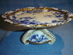 ANTIQUE VICTORIAN HAMMERSLEY c1887 COMPORT CENTREPIECE CAKE STAND PLATE PERFECT.