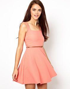 Primark Textured Sleeveless Skater Dress