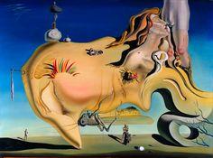Dali-Le grand Masturbateur 1929 Serait un autoportrait contractant phobies et angoisses sexuelles. Images cachées et troubles, pratiquées depuis époque Baroque. Rêves, double sens, fragilité du sens des choses