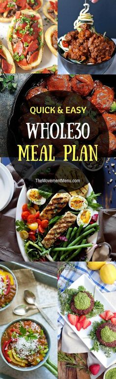 A Whole30 meal plan that's quick and healthy! Whole30 recipes just for you. Best Trader Joe's shopping list. Whole30 meal planning. Whole30 meal prep. Healthy paleo meals. Healthy Whole30 recipes. Easy Whole30 recipes. #HealthyPaleoDiet
