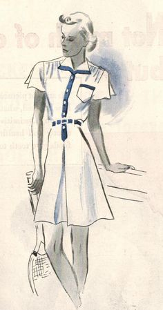 The Midvale Cottage Post: 1938 Summer Fashion - Tennis, Anyone?