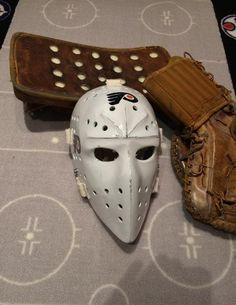 Dale C Parent custom molded vintage goalie masks Bernie Parent, Goalie Mask, Hockey Goalie, Philadelphia Flyers, Bullies, Old School, Masks, Parenting, Street