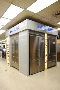 "Mrs. G's Liebherr ""Stop & Shop"" display, the first one in the USA. These refrigerators are amazing- dual cooling, bio-fresh, quiet and the freezer can go to -30 degrees for flash freezing. It can even freeze Vodka."