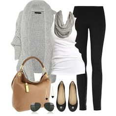 Comfy casual leggings and sweater