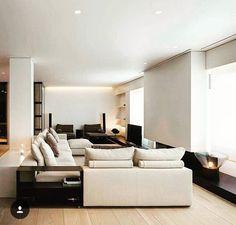 25 Amazing Modern Living Room Decor Ideas - Home Decor & Design Contemporary Doors, Contemporary Apartment, Contemporary Home Decor, Modern Decor, Contemporary Design, Contemporary Chandelier, Contemporary Landscape, Modern Boho, Contemporary Architecture