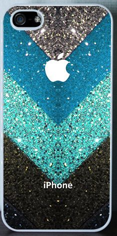 Iphone case - Glitter chevron pattern