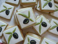 Olive Tree Wedding Theme Baby Shower 25 Ideas For 2019 Tree Cookies, Fun Cookies, Cupcake Cookies, Decorated Cookies, Cupcakes, Summer Cookies, Easter Cookies, Italian Themed Parties, Italian Party