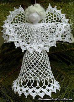Schemes openwork crochet angels (3)