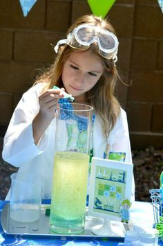 Mad Scientist Science Boy Girl Birthday Party Planning Ideas
