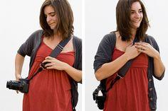 Camera Strap Buddy - Converts the way you wear your camera strap into a comfy sling style. ($15.00, http://photojojo.com/store)    @Photojojo ♥s Photography