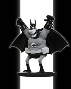 #Batman Black and White Statue by Sergio Aragones. #DC Direct and Alter Ego Comics bring you one of the most unique Batman statues ever - the #Batman Black and White Statue by Sergio Aragones. The legendary MAD Magazine artist and creator of #Groo the Wanderer brings his distinct art style to the caped crusader.  The Batman Black and White Statue by Sergio Aragones stands 6.5 inches tall, is perched atop a Bat-logo-shaped base and is a limited edition #Batman collectible.